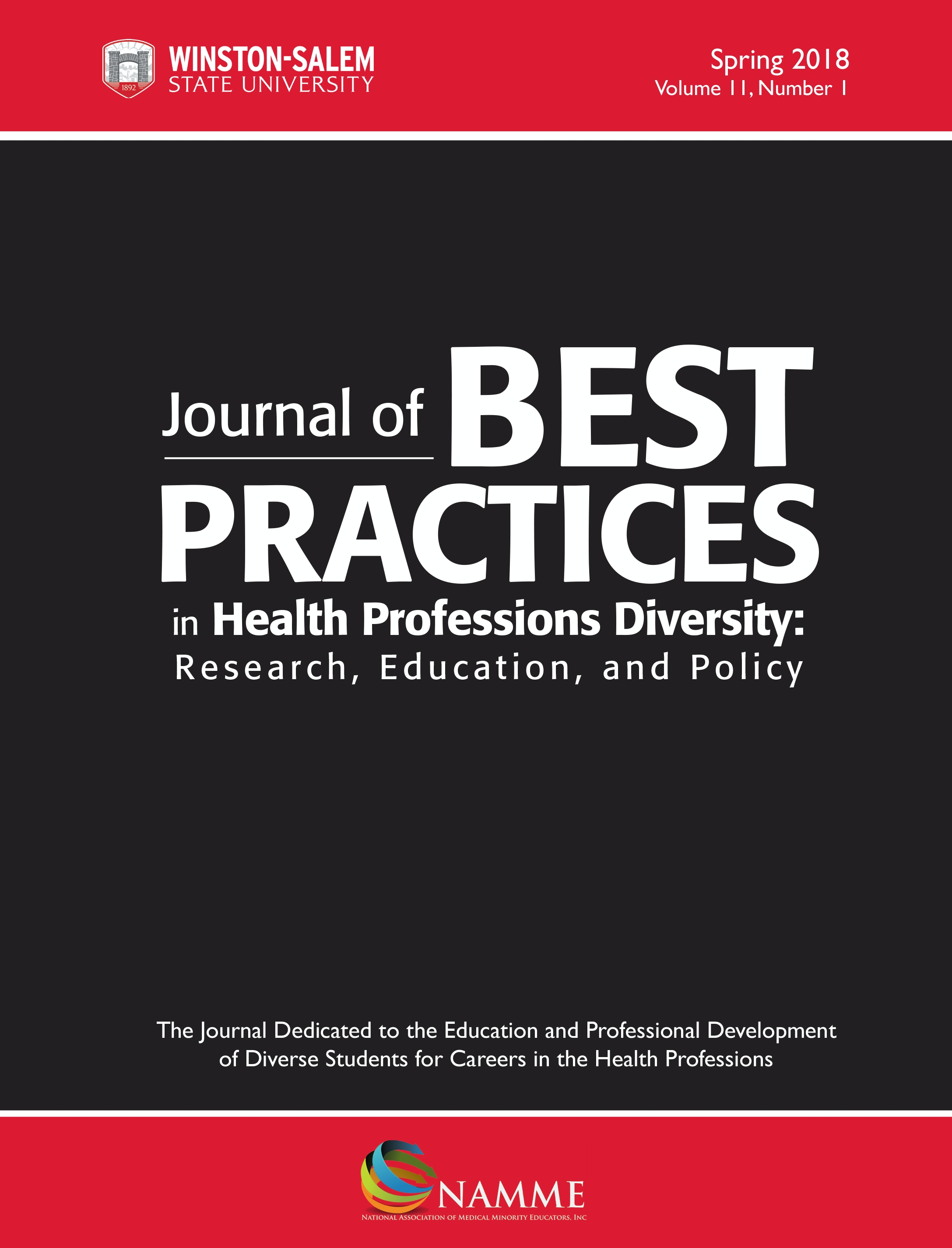 Journal of Best Practices in Health Professions Diversity: Research, Education, and Policy, vol. 11 issue 1