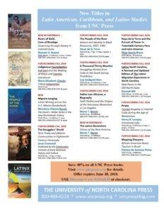 UNC Press Latin American Studies 2018