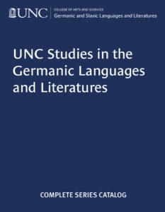 UNC Studies in the Germanic Languages and Literatures catalog